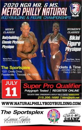 2020 Mr Ms Metro Philly Natural Gym